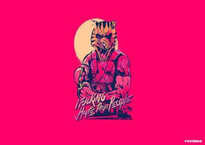 hotline miami poster tasarımları